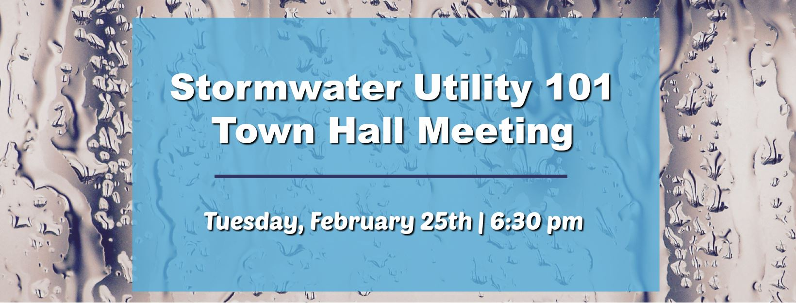 Storm Water FB Event