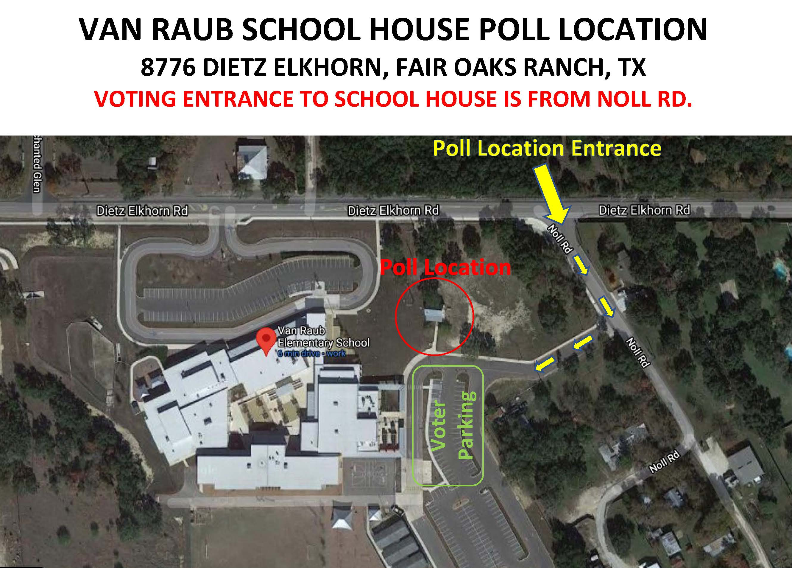 Van Raub School House Map